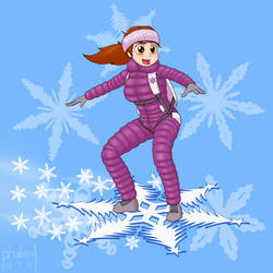 Snowflake Surfing by phallen1
