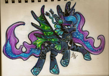 Lunafeesh Mare by LightningSilver-Mana