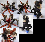 A.I.C.O. Incarnation custom pony set by LightningSilver-Mana