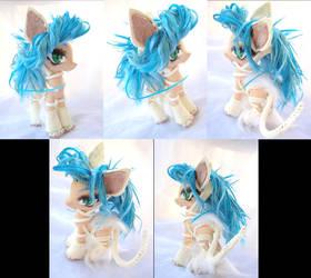 Darkstalkers Felicia custom pony by LightningSilver-Mana