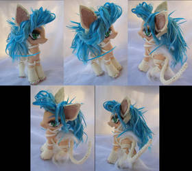 Darkstalkers Felicia custom pony by LightningSilver-Mana