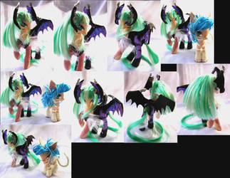 Darkstalkers Morrigan custom pony by LightningSilver-Mana