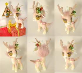 Pink deer by LightningSilver-Mana