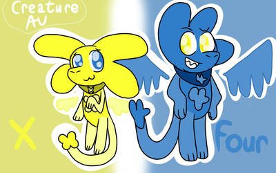 BFB Creature AU: Four and X by The-Creative-Sketchy