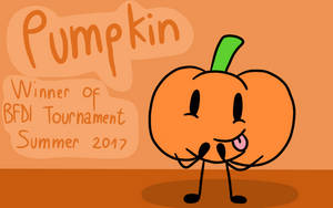 BFDI Tournament Hall of Fame: Pumpkin (Fan Cover) by The-Creative-Sketchy