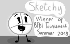BFDI Tournament Hall of Fame: Sketchy (Fan Cover) by The-Creative-Sketchy
