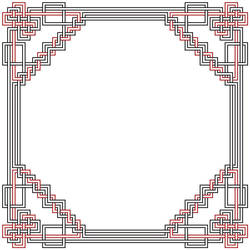 Rounded Red and Black Border by Bellairs