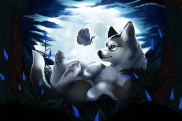 The pup and the Moth - Draw this again +Speedpaint by Yechii