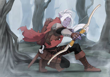 Drow Ranger by kingblastie