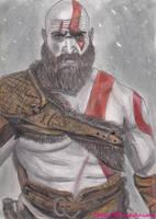 Speed Drawing: New God of War 4 Kratos by TalesOfPinkAnime