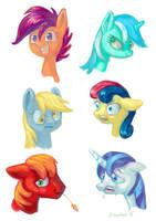 Pony heads (speedpaint practice) by Drawirm