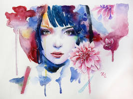 Study Watercolor painting by helen95