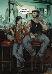 Wolverine raising X23 by Nolife-Edi
