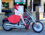 :Red Harley by DollyPrincess