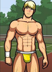 Monthly Manful - The Tennis Player by HellMiku
