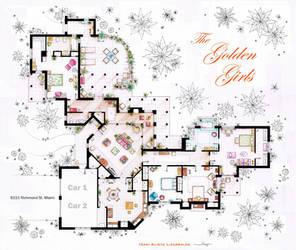 The Golden Girls House floorplan v.1 by nikneuk