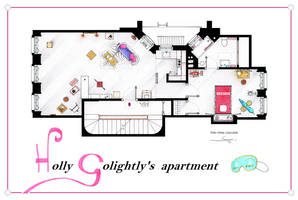 Breakfast at Tiffany's Apartment floorplan Poster by nikneuk