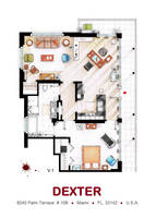Floorplan of Dexter Morgan's Apartment v.1 by nikneuk