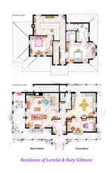 House of Lorelai and Rory Gilmore - Floorplans by nikneuk