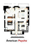 Patrick Bateman's apartment from AMERICAN PSYCHO by nikneuk
