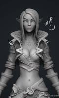Archer Lady Sibill WIP1 by YBourykina