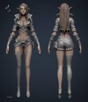 Archer Lady Sibill WIP2 by YBourykina