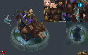 Sejuani Dawnchaser Wires and Map by YBourykina