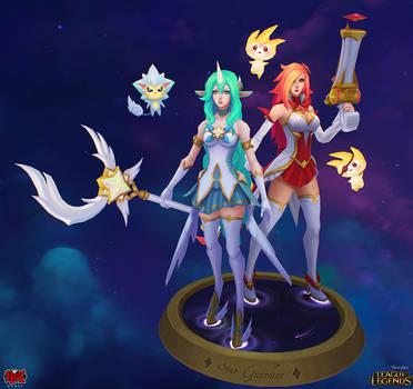 Star Guardian Miss Fortune and Soraka by YBourykina