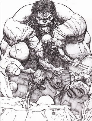 Hulk/Wolverine...Ray after CLARK by rayan101