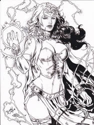 Scarlet Witch David Lima pencils Ray inks by rayan101