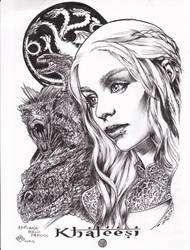 Khaleesi   Adriana Melo Pencils ...Ray inks by rayan101