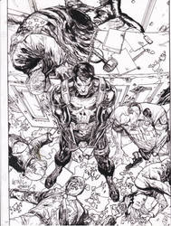 Punisher YU pencils Ray inks by rayan101