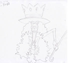 Brook One Piece Sketch by Jenodragus