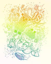 [Misc] Deviantart's rainbowed birthday by UrielFerneschola