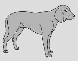 Dog Template - Hound by NaruFreak123-Bases