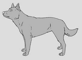 Dog Template - Australian Kelpie by NaruFreak123-Bases