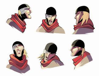 face model sheet by ZurdoM