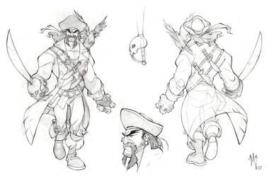 pirate model sheet by ZurdoM