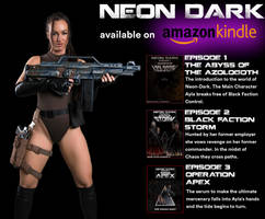 Neon Dark Novels now Available on Amazon by Blacklaceinc