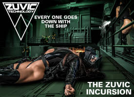 The Zuvic Incursion Action scene by Blacklaceinc