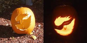 Flareon Halloween Pumpkin by MartAnimE