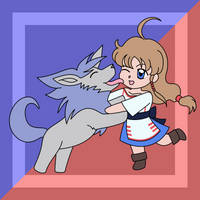 A Girl And Her Dog by MartAnimE