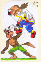 Otaru VS Wolf by MartAnimE