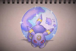 Umbreon's Mysterious Power by sketchwithtiff