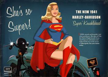 Supergirl 'Super Knucklehead' Harley commission by DESPOP