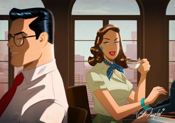 Lois and Clark Kent By Des Taylor by DESPOP