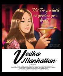 Katie Rogers Vodka Manhattan by DESPOP