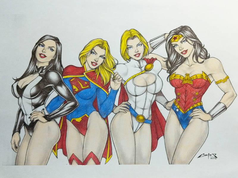 Women of DC by Schadwen