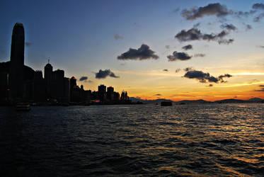 hong kong sunset II by reve-olutionx
