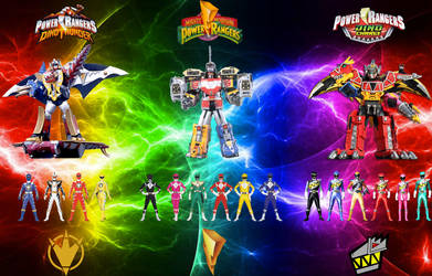 Power Rangers - Dino Ranger Power Teams by MitchThe1Soul